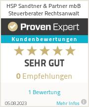 Erfahrungen & Bewertungen zu HSP Sandtner & Partner Steuerberatungsgesellschaft