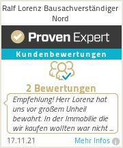 Erfahrungen & Bewertungen zu Ralf Lorenz Bausachverständiger Nord