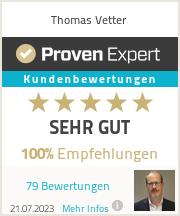 Erfahrungen & Bewertungen zu Thomas Vetter