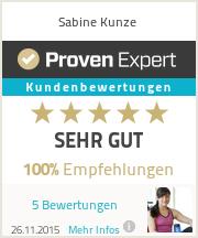 Erfahrungen & Bewertungen zu Sabine Kunze