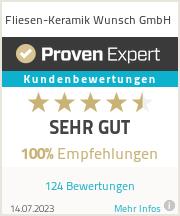 Erfahrungen & Bewertungen zu Fliesen-Keramik Wunsch GmbH
