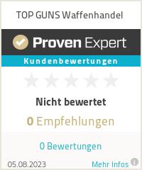 Erfahrungen & Bewertungen zu TOP GUNS Waffenhandel