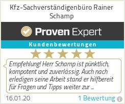 Erfahrungen & Bewertungen zu Kfz-Sachverständigenbüro Rainer Schamp
