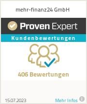 Erfahrungen & Bewertungen zu mehr-finanz24 GmbH