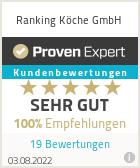 Erfahrungen & Bewertungen zu Ranking Köche GmbH
