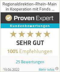 Erfahrungen & Bewertungen zu Regionaldirektion-Rhein-Main in Kooperation mit Fonds Finanz
