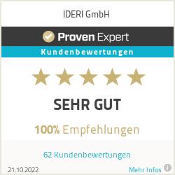Erfahrungen & Bewertungen zu IDERI GmbH