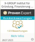 Erfahrungen & Bewertungen zu X-GROUP Institut für Gründung, Finanzierung & Geschäftsentwicklung