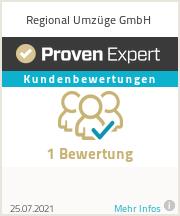 Erfahrungen & Bewertungen zu Regional Umzüge GmbH