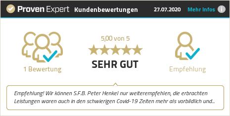 Kundenbewertungen & Erfahrungen zu S.F.B. Peter Henkel Schweißfachbetrieb. Mehr Infos anzeigen.