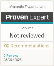 ProvenExpert-Profil von Memento Trauerkarten anzeigen