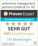 Erfahrungen & Bewertungen zu acterience management partners GmbH & Co. KG