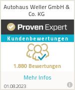 Erfahrungen & Bewertungen zu Autohaus Weller GmbH & Co. KG