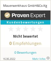 Erfahrungen & Bewertungen zu Mauerwerkhaus GmbH&Co.Kg