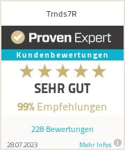 Erfahrungen & Bewertungen zu Trnds7R