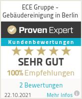Erfahrungen & Bewertungen zu ECE Gruppe - Gebäudereinigung in Berlin