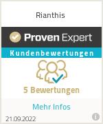 Erfahrungen & Bewertungen zu Rianthis