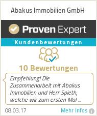 Erfahrungen & Bewertungen zu Abakus Immobilien GmbH