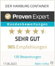 Erfahrungen & Bewertungen zu DER HAMBURG CONTAINER
