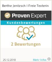 Erfahrungen & Bewertungen zu Berthe Jentzsch I Freie Texterin