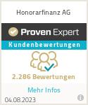 Erfahrungen & Bewertungen zu Honorarfinanz AG