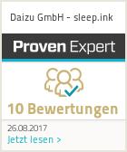 Erfahrungen & Bewertungen zu Daizu GmbH - sleep.ink