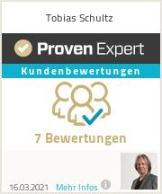 Erfahrungen & Bewertungen zu Tobias Schultz