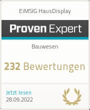 ProvenExpert-Profil von EiMSIG HausDisplay anzeigen