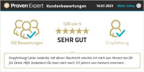 Kundenbewertungen & Erfahrungen zu Hypnose Berlin - Isabella Buschinger Hypnosetherapie. Mehr Infos anzeigen.