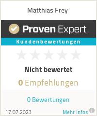 Erfahrungen & Bewertungen zu Matthias Frey