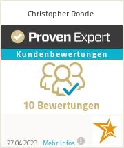 Homepage Ersteller und Webdesigner Christopher Rohde Bewertungen und Referenzen