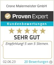 Erfahrungen & Bewertungen zu Crone Malermeister GmbH