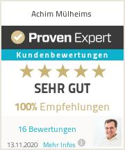 Erfahrungen & Bewertungen zu Achim Mülheims
