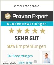 Erfahrungen & Bewertungen zu Bernd Trappmaier