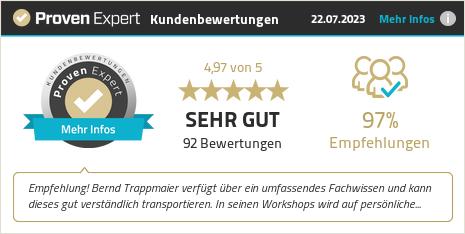 Erfahrungen & Bewertungen zu Bernd Trappmaier anzeigen