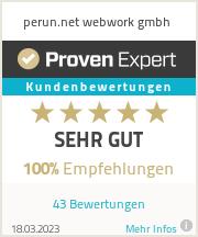 Erfahrungen & Bewertungen zu perun.net webwork gmbh