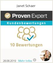 Erfahrungen & Bewertungen zu Janet Schaer