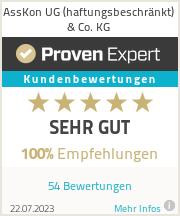 Erfahrungen & Bewertungen zu AssKon UG (haftungsbeschränkt) & Co. KG