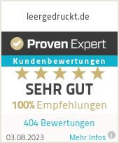 Erfahrungen & Bewertungen zu leergedruckt.de