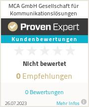 Erfahrungen & Bewertungen zu MCA GmbH Gesellschaft für Kommunikationslösungen
