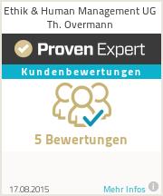 Erfahrungen & Bewertungen zu Ethik & Human Management UG Th. Overmann