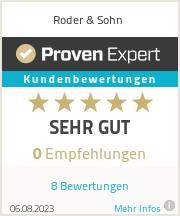 Erfahrungen & Bewertungen zu Roder & Sohn