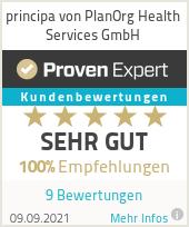 Erfahrungen & Bewertungen zu principa von PlanOrg Health Services GmbH