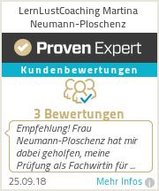 Erfahrungen & Bewertungen zu LernLustCoaching Martina Neumann-Ploschenz