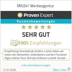Erfahrungen & Bewertungen zu MIU24® Werbeagentur