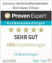 Erfahrungen & Bewertungen zu Consens Wirtschaftsmediation Brid Karen Frisse