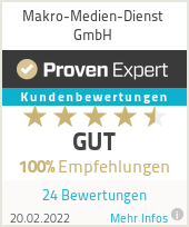 Erfahrungen & Bewertungen zu Makro-Medien-Dienst GmbH