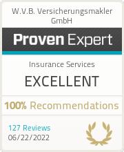 ProvenExpert-Profil von W.V.B. Versicherungsmakler GmbH anzeigen