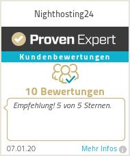 Erfahrungen & Bewertungen zu Nighthosting24