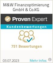 Erfahrungen & Bewertungen zu M&W Finanzoptimierung GmbH & Co.KG